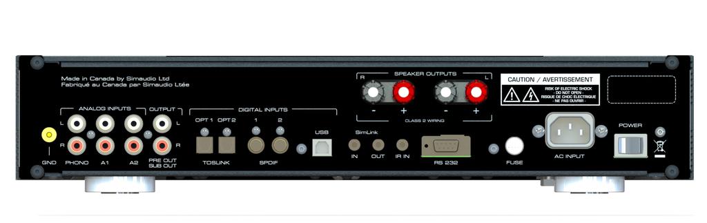 MOON 240i - Amplificador integrado - Parte trasera